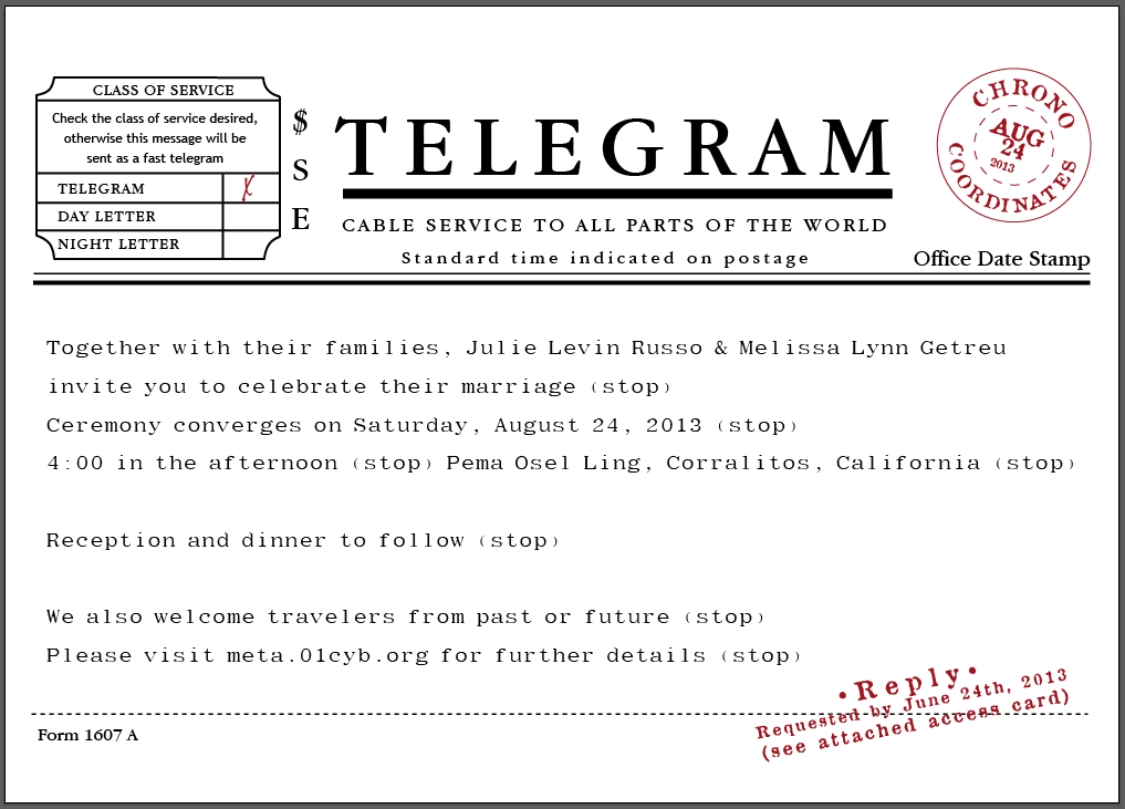 telegram invitation